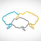 семинар речи облака — Cтоковый вектор