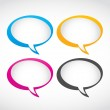 Thought and speech bubbles set — Stock Vector #13978232