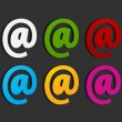 Colorful email labels concept — Stock Vector