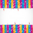 Stockvector : Colorful birthday confetti background