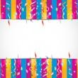 Colorful birthday confetti background — Stock Vector