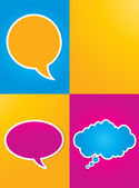Colorful speech bubbles poster — Stock Vector