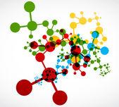 Abstract colorful dna molecule design — Stock Vector