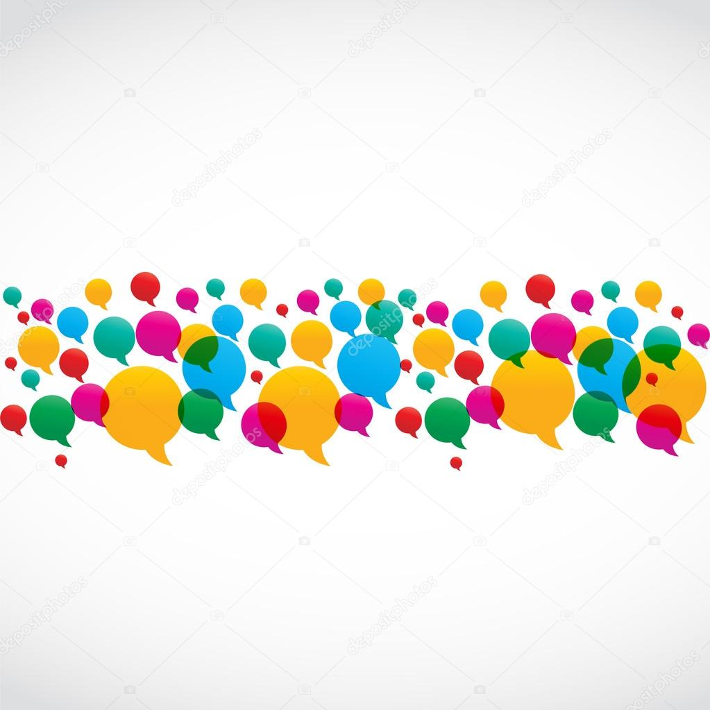 Colorful Speech Bubbles Social Media Concept vector illustration  Stock Vector #13978322
