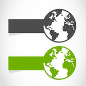 World banner illustration — Stock Vector