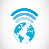 Global Wifi-Verbindungen — Stockvektor