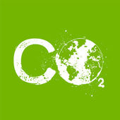 Co2 grunge illustration — Vector de stock