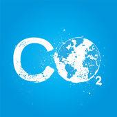 концепция co2 гранж — Cтоковый вектор