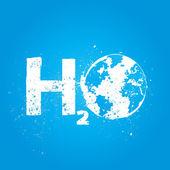Water h2o world ecology concept — Stock Vector
