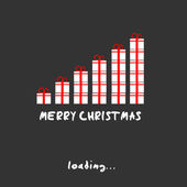 Merry christmas present concept — Stock vektor