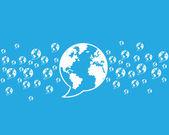 Social media communication world — Stock Vector