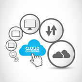 Cloud computing group — Stock Vector