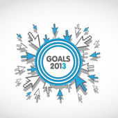 Goals 2013 business target concept — Stock Vector