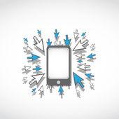 Concept van de mobiele telefoon — Stockvector