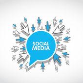 Social media web concept — Stock Vector