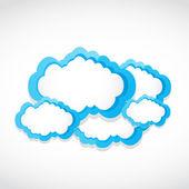 Cloud computing clouds — Stock Vector