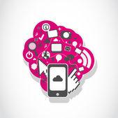Concept d'icônes application smartphone — Vecteur