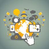 Tecnologie di rete comunitaria — Vettoriale Stock