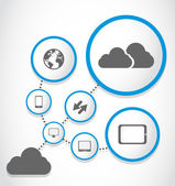 Cloud computing proces groep — Stockvector