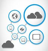 Grupo de proceso de computación en la nube — Vector de stock