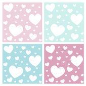 Valentine hearts pattern background — Stock Vector