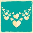 Royalty-Free Stock Imagen vectorial: Valentines day card in retro style