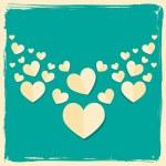 Sevgililer günü kartı retro tarzı — Stok Vektör