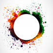 Colorful grunge ink splash circle - Imagen vectorial