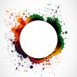 Colorful grunge ink splash circle - Stock Vector