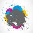Colorful paint splash background — Stock Vector