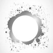 Bright ink splash circle design — Stock Vector
