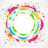 Colorful paint splash circle — Vettoriale Stock
