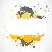Grunge inkblots splash design — Stock Vector