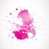 Abstract bright pink watercolor art — Stock Vector