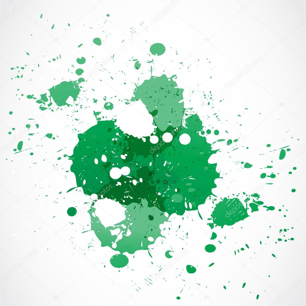 Green paint splash