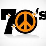 Peace symbol seventies — Stock Vector #21130929