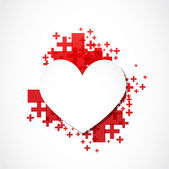 Paper heart positive concept — Stock Vector