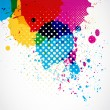 Colorful grunge splash background — Stock vektor