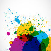 Abstract grunge splash paint — Vector de stock