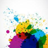 Abstract grunge splash paint — Stock Vector