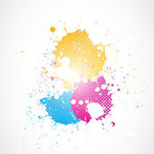 Colorful glowing grunge splashes — Stock Vector