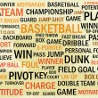 Grunge basketball word cloud — Stock Vector