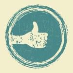 I like grunge stamp — Stock Vector