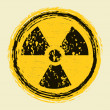 Grunge nuclear radiation sign - Stock Vector