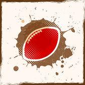 Grunge American Football — Stock Vector