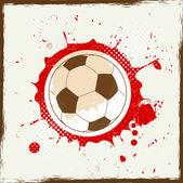 Grunge splash fotboll — Stockvektor