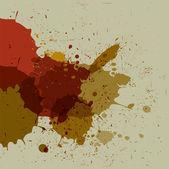 Abstract grunge splash brush strokes — Stock Vector
