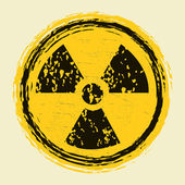 Grunge nuclear radiation sign — Stock Vector