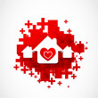 Royalty-Free Stock Imagen vectorial: Real estate love design illustration