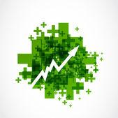 Positive grow up arrow — Stock Vector